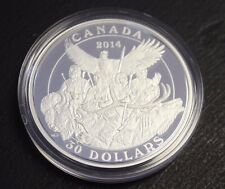 2014 $30 Fine silver National Aboriginal Veterans Monument with Cao and Box