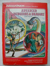 * INTELLIVISION COMPLET ADVANCED DUNGEONS & DRAGONS N° 3410 DE 1982