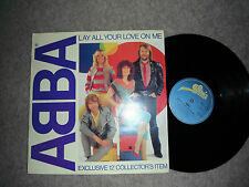 "ABBA LAY ALL YOUR LOVE ON ME COLLECTOR'S 12"" 1981 EXC"