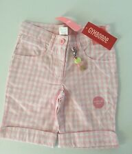 NWT ICE CREAM SOCIAL 🍦Line  Pink And White Checked Bermuda Shorts Size 4