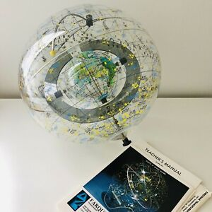"1977 Farquhar ""Earth in Space"" Globe Celestial Transparent Globe ~ VERY RARE"