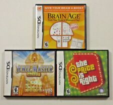 3 Nintendo DS Video Games The Price Is Right Jewel Master Brain Age