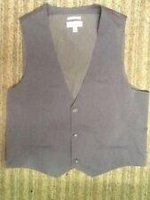 CALVIN KLEIN VEST gray plaid Body FiT DRESS SUIT WAISTCOAT XL