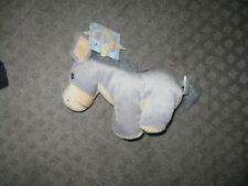 "Nwt 1998 7"" Precious Moments Tender Tails Nativity Donkey Plush stuffed enesco"