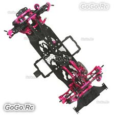 NEW!! CNC & Carbon Sakura D4 1:10 RWD 2WD OP EP RC Car Frame Kit with 4 Wheels