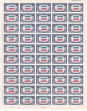 United States Scott # 917 Yugoslavia Overrun Countries Issue Uncut Sheet MNH