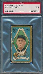 1911 T205 Jeff Sweeney Polar Bear PSA 1 *OBGcards*