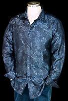 "R By Robert Graham ""Midnight"" NWT $395 Jacquard Paisley Tailored Fit Medium"