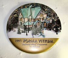 "1995 FORMA VITRUM Stained Glass Treasures BILL JOB 3"" Event Pin Back Button"