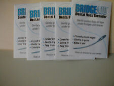 50 Bridgeaid Dental Floss Threaders in 5 Convenient Packages with Free Tracking