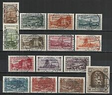 Saar 1934 MI 179-194  CANC  VF