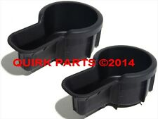 2000-2004 Nissan Frontier & Xterra Black Rubber Console Cup Holders Set Oem New