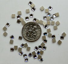 3mm 12 pieces SQUARE 2400 Crystal Clear Swarovski Flatback Rhinestones