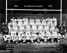 1952 PHILADELPHIA EAGLES 8x10 TEAM PHOTO PICTURE HOFs BEDNARIK BUD GRANT PIHOS