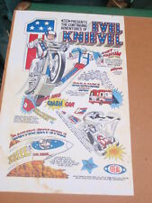 """Evel Knievel"" motorcycle Daredevil, Advertisment  16 x 25"