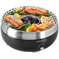 BBQ asador a carbón vegetal umluftgebläse Barbacoa de mesa con tapa negro