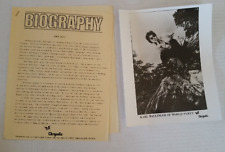 World Party Press Kit / Bio & 8x10 Photo Private Revolution 2pg 1986 Chrysalis