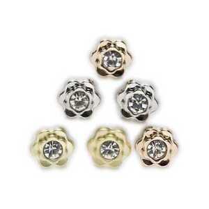 5pcs Flower Shape Metal Button Sewing Handmade Apparel Shirt Bag Decor 10mm