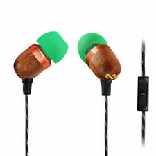 House Of Marley EM-JE041-RA Smile Jamaica In-Ear Headphones w/ Microphone Wood