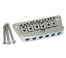 Chrome 6-saddle Adjustable Bridge for Danelectro® Guitar SB-5800-010