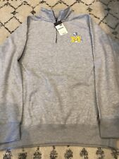 Ouray Sportswear Benchmark University of Michigan 1/4 Zip Sweater SIZE Large