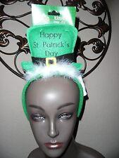 Saint Patrick's Day Green Leprechaun Hat Headband for Teens/Adult Size.