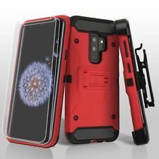 FOR SAMSUNG GALAXY S9 PLUS G965 RED BLACK KINETIC ARMOR CASE COVER+HOL