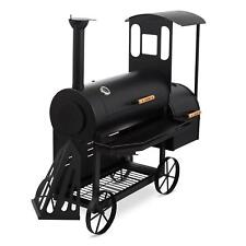 Barbecue Carbonella Legna Affumicatore Acciaio BBQ-Grill Grigliata Estate 2 Vani