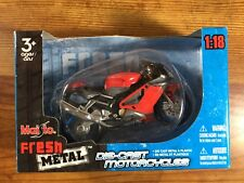 2007 Maisto APRILIA RSV 1000 - Red & Grey -  1/18 Diecast Motorcycle