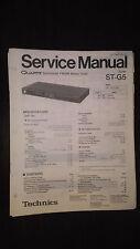 Technics st-g5 service manual original repair book stereo tuner panasonic