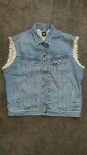 "Lee Jeans Sleeveless Denim Jacket  Blue (M) ""Fresh Dipped"" print"