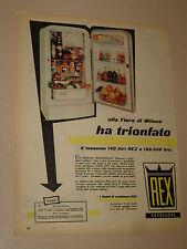 REX FRIGORIFERO ELETTRODOMESTICO=ANNI '50=PUBBLICITA=ADVERTISING=468