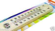 Indoor Hanging Wooden Thermometer Temperature Meter Monitor Gauge bath & sauna