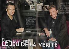 Coupure de presse Clipping 2009 David & Johnny Hallyday (8 pag) jeu de la vérité