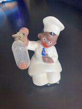 Vintage Black Americana Porcelain Chef Egg Timer