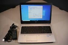 "HP 15.6"" ProBook 650 G2 i7-6600U 2.60GHz 8GB DDR4 RAM 256GB SSD Windows 10 Pro"