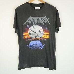 ANTHRAX 1990 Tour T-SHIRT Vintage metal band rock t-shirt SZ Medium (G389)