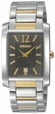 Seiko SKK701 Men's Dress Gray Dial Two-Tone Stainless-Steel Bracelet Date Watch
