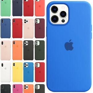 Cover Apple Custodia Per iPhone X XS XR 11 12 Pro Mini Max in Silicone