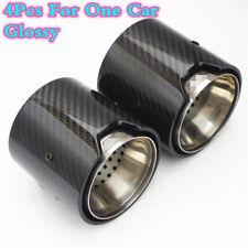 4X Glossy Carbon Fiber Exhaust tip For BMW M Performance M2/M3/M4 /M5/M6/X5/X6M