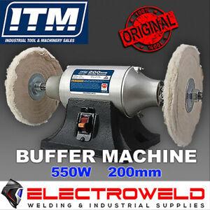 "ITM 200mm 8"" Buffer Polishing Machine 240V, Bench Polisher Buffing - TM402-200"