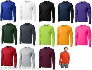 Mens Moisture Wicking Big & Tall Long Sleeve dri fit Running T-shirts TST350LS