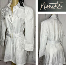 Nanette Lepore Trench Coat Belted Long White Spring Jacket Women Sz S M XL NWT