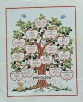 1991 Counted Cross Stitch Embroidery Kit Family Tree 11x14 Picture Craft 5630F