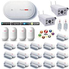 E75 APP WiFi Cloud GSM Wireless Home Security Alarm System+Waterproof IP Camera