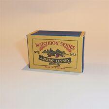 Matchbox Lesney  2 a Dumper Moko Script empty Repro A style Box