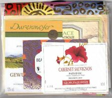 BEAUTIFUL LOT OF 90 VERY ATTRACTIVE FRENCH WINE LABELS - FREE SHIPPING LOT 1