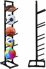 Ball Storage Rack 5-Layer Basketball Holder Shelf Sports Equipment Organizer