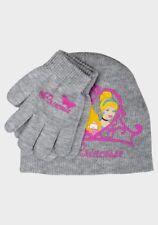 NEW Official Disney Princess Girls Grey Hat & Gloves Set  - Age 5 - 8 (54cm)