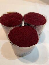 LOT 3 Brunswick Plum/Burgandy Latchhook Rug Yarn 100% Acrylic Precut